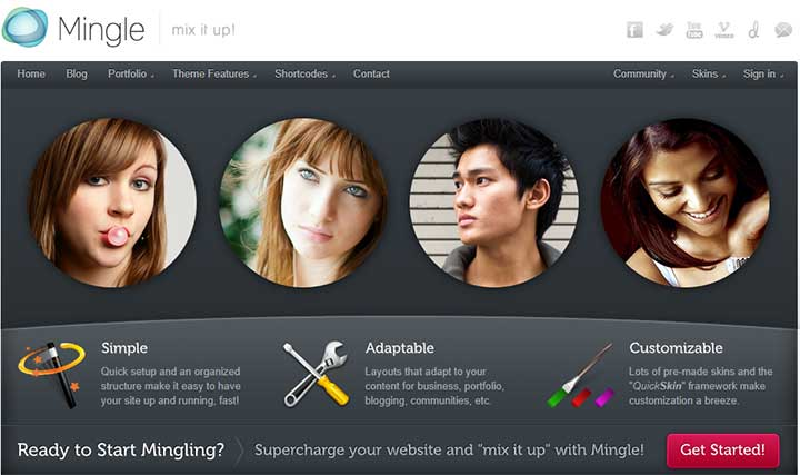 Mingle WordPress Dating Themes