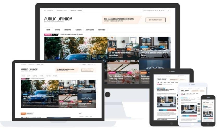 public opinion wordpress theme by cssigniter
