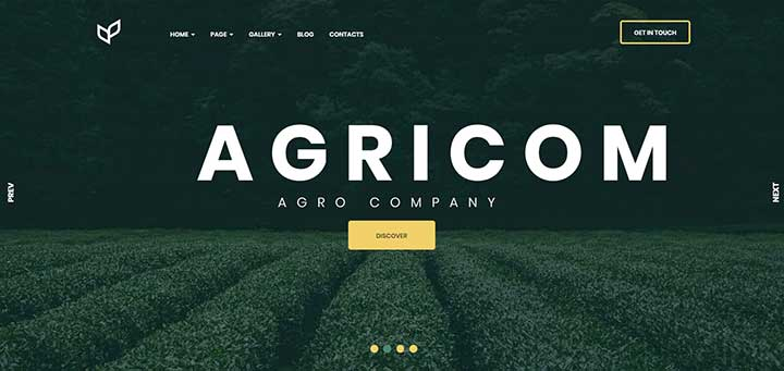Agricom Organic Food WordPress Theme