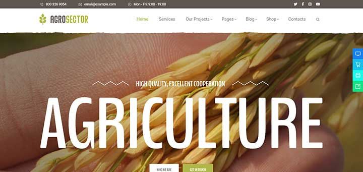 Agrosector Agriculture & Organic Food WordPress Theme