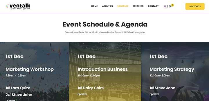 EvnTalk Event Conference WordPress Theme