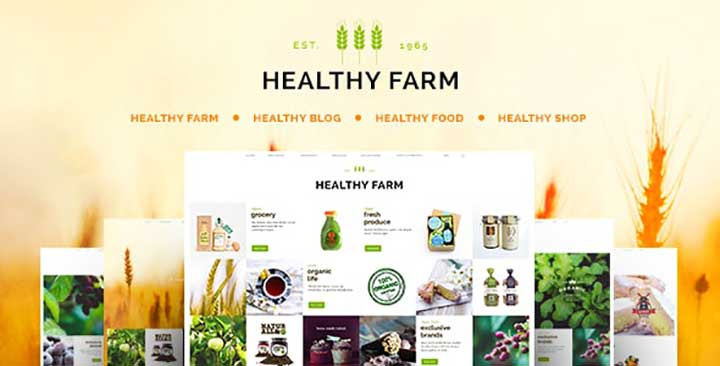 Healthy Farm Food & Agriculture WordPress Theme
