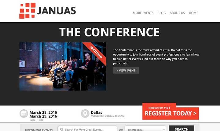 Januas Event WordPress Theme
