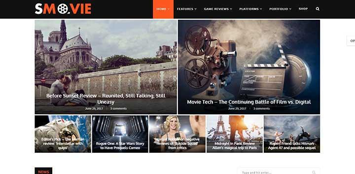 Soledad Movie WordPress Theme