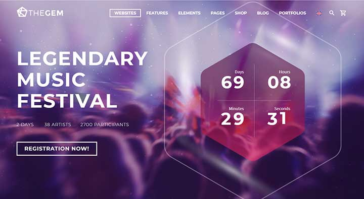 The Gem WP Festival Theme