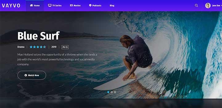 Vayvo Media Streaming & Membership Theme