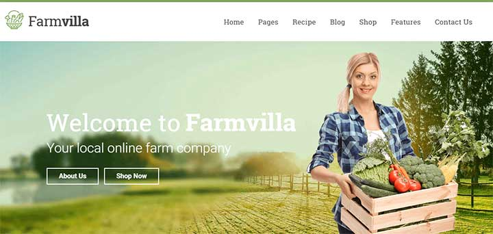 Farmvilla Organic Food WordPress Theme