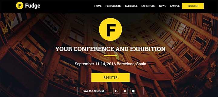 Fudge2 Event WordPress Theme