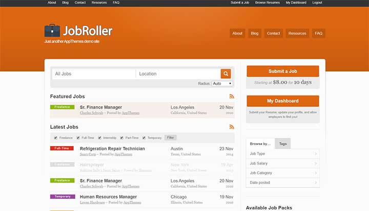 Job Roller WordPress Job Board Themes
