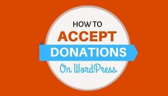 How to accept donations on wordpress