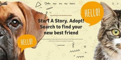 animal pets WordPress themes