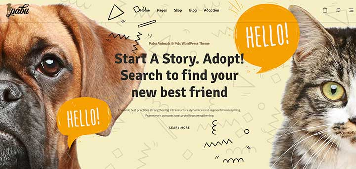 Pabu Animals and Pets WordPress Theme