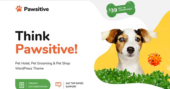 Pawsitive Pet Hotel & Shop WordPress Theme