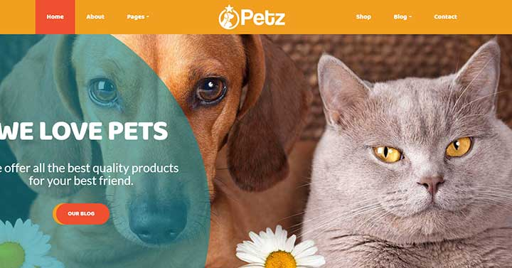 Petz Pet Care & Veterinary Theme