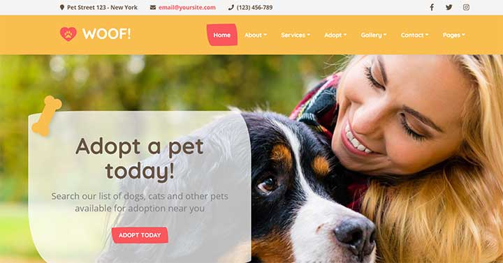Woof Pet WordPress Theme