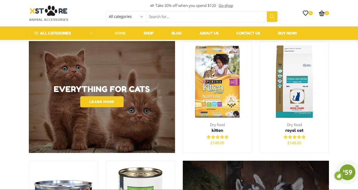 Xstore Pets WordPress Theme