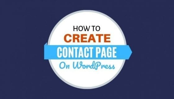 how to create a contact page on wordpress