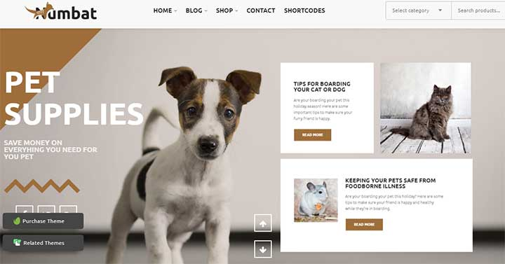 Numbat Pet Shop WooCommerce WordPress Theme