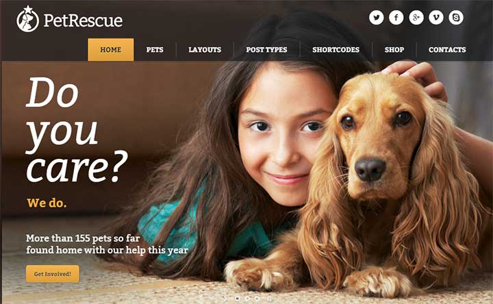 Pet Rescue Animals and Shelter Charity WP Theme