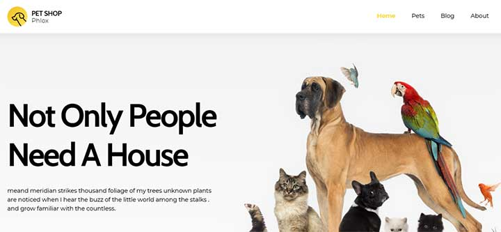 Phlox Pro WordPress Pet Theme