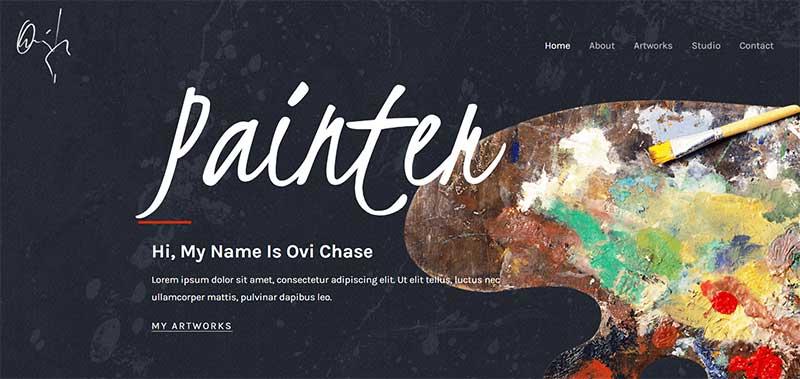 Astra-WordPress Artist-Theme