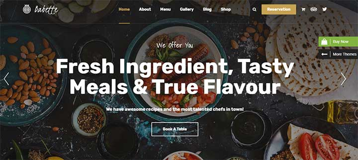 Babette Restaurant & Cafe WordPress Theme