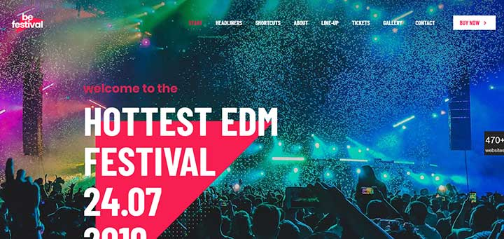 Betheme WP Themes for Festivals