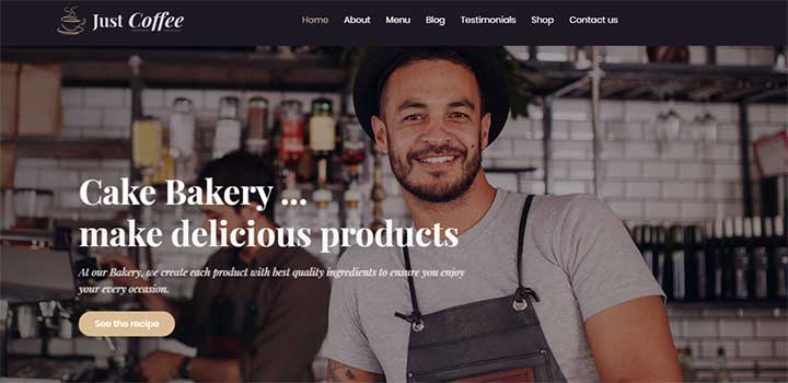 Justshoppe Elementor Cake Bakery WordPress Theme