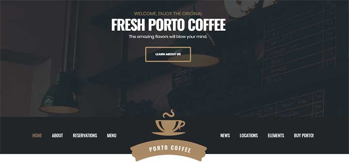 Porto WordPress Catering Theme