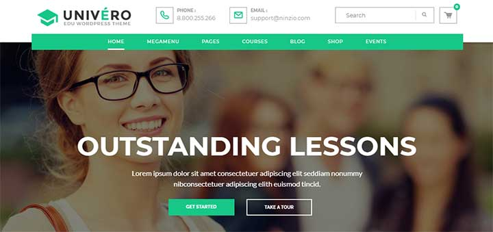 Univero Education LMS & Courses WordPress Theme