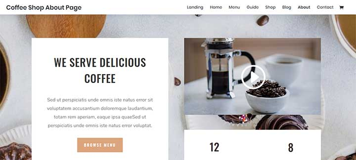 Divi WordPress Coffee Themes