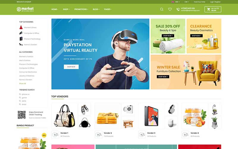 eMarket Dropship WordPress Theme