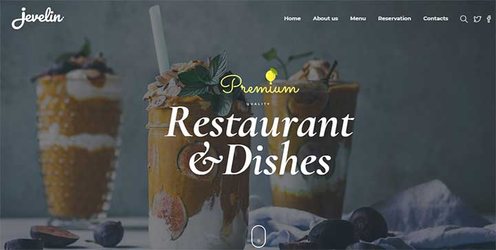 Jevelin WordPress Coffee Theme