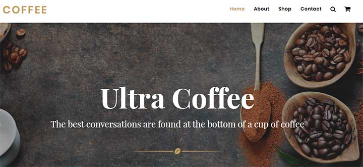 Ultra WordPress Coffee Shop Theme