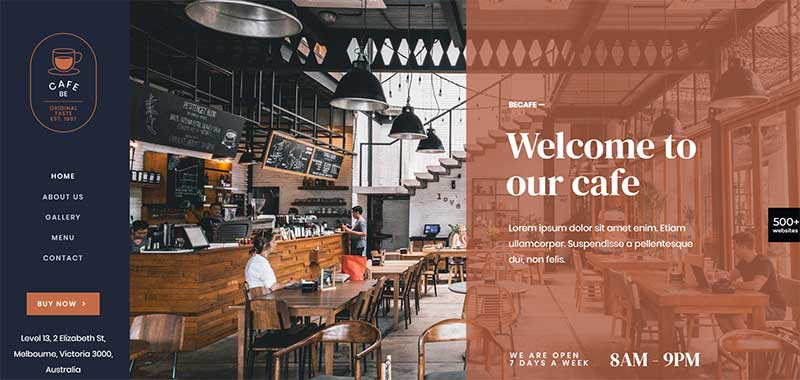 BeTheme Coffee Shop Template