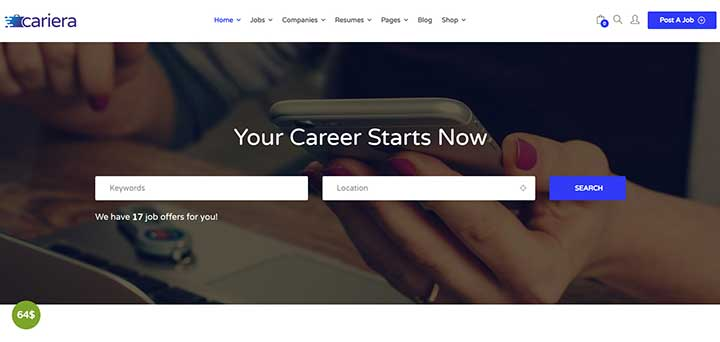 Cariera WordPress Job Board Theme