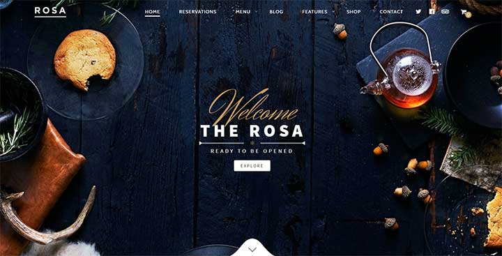 ROSA WordPress Coffee Shop Theme