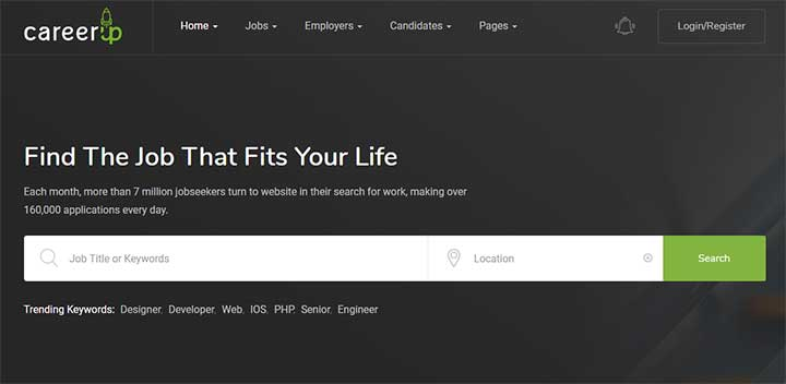 CareerUp Job Portal WordPress Theme