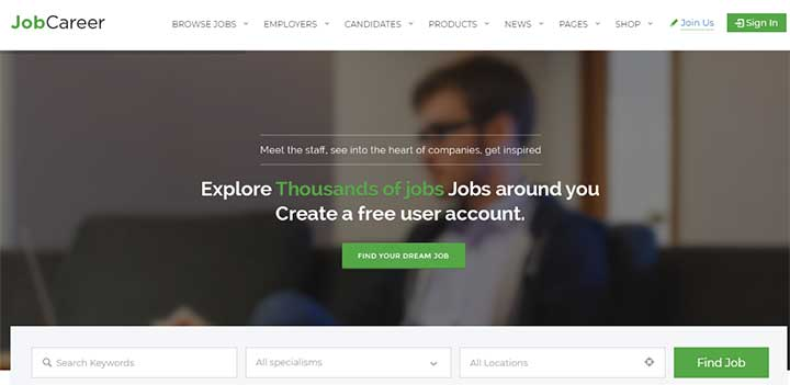 JobCareer WordPress Job Board Theme