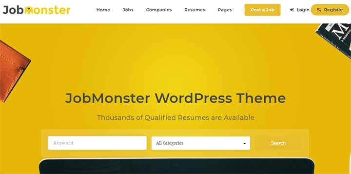 Job Monster WordPress Job Board Theme