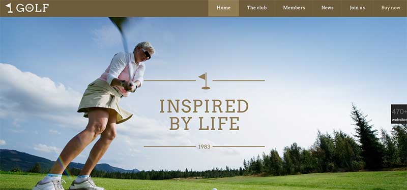 BeTheme Golf WordPress Theme