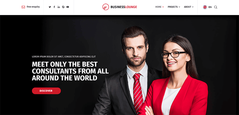 Business Lounge Finance Consultant Theme