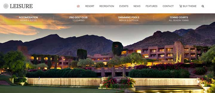 Hotel Leisure Golf WordPress Theme