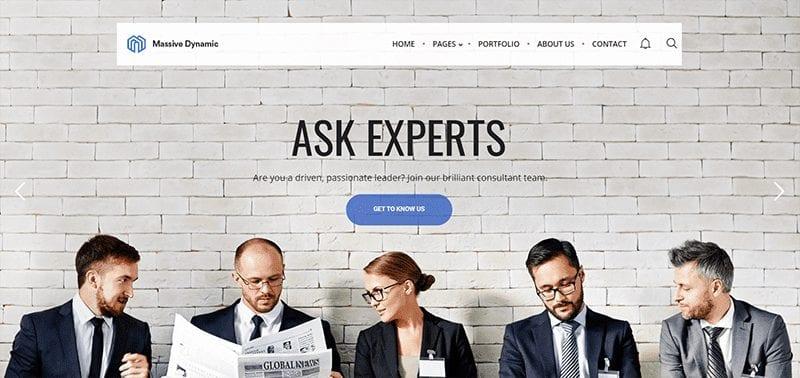 Massive Dynamic WordPress Consultant Theme