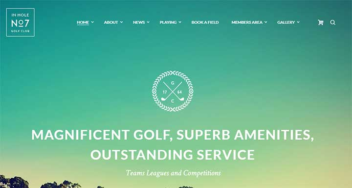 N7 WordPress Golf Theme