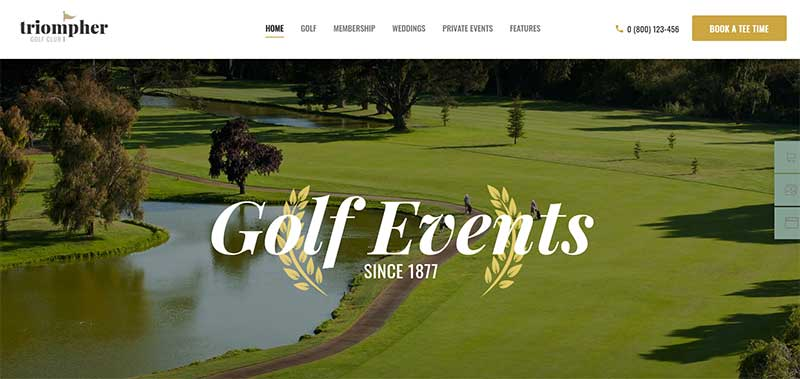 Triompher WordPress Golf Template