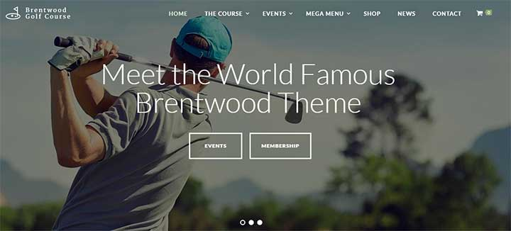 Brentwood Golf WordPress Theme