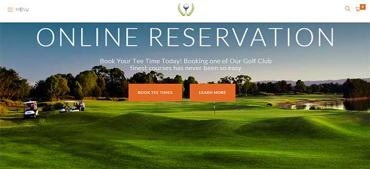 Golf Club WP Theme