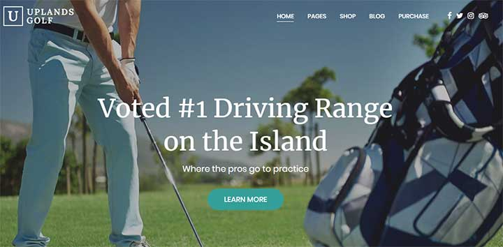 Uplands WordPress Golf Theme