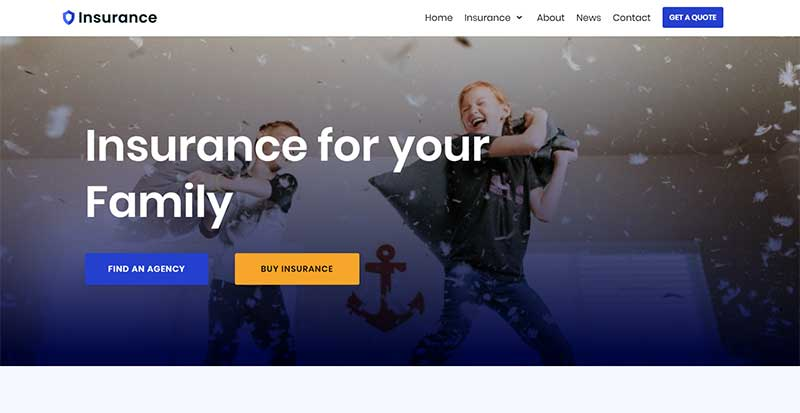 Neve Insurance WordPress Theme